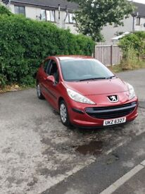 Peugeot 207 1.4 58,000 miles full service history £1495ono