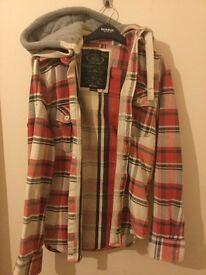 Superdry hooded 'lumberjack shirt''. Size medium.