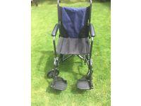 Lightweight Steel Travel Wheelchair with Cushion, Scooter & Wheelchair Storage Bag