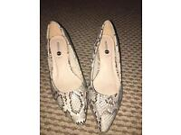Wide fit Snake print kitten heel *WORN ONCE*