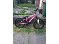 "Pink girls bike. 20"""