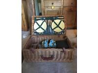 Beautiful wicker picnic basket