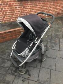 Uppa Baby Cruz Travel system, push chair, carry cot.