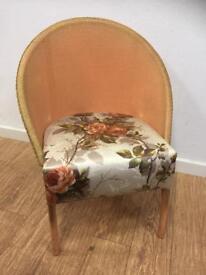 Vintage sirrom Lloyd loom occasional chair