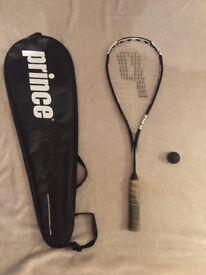 Squash racquet and case