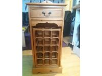 WOODEN WINE RACK UNIT WITH DRAWER