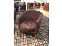 Purple Damask fabric tub Chair (6 available)
