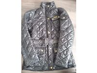 Barbour coat with belt size 10