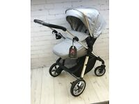SILVER CROSS PIONEER SILVER GREY PRAM PUSHCHAIR