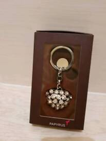Love heart key ring