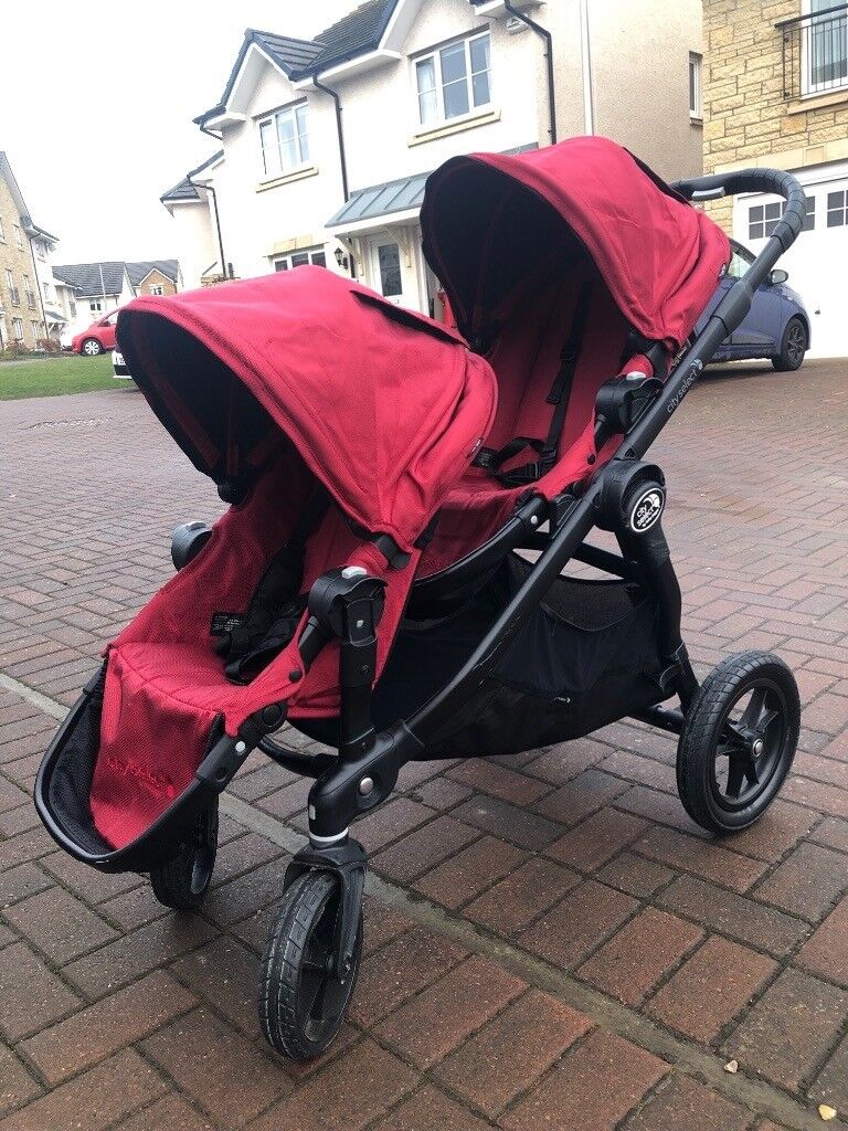 City Select Baby Jogger In Red With Second Seat And Bassinet Immaculate Condition In Bonnyrigg Midlothian Gumtree
