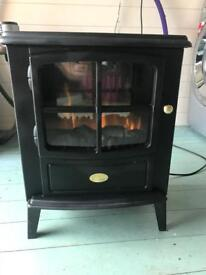 Dimplex black flame effect electric stove