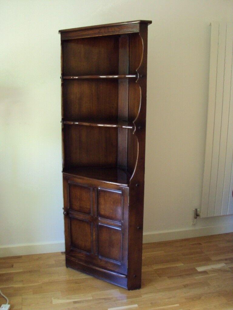 Corner Display Cabinet Cupboard Shelves Vintage Ercol Old