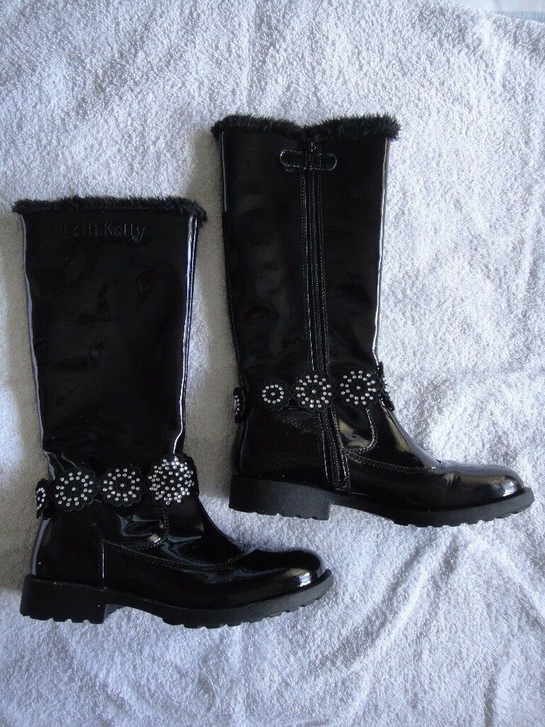 Lelli Kelly Bella 2 Hi fur girls boots size UK 2 Uppers: Synthetic/Leather Lining: Faux fur lining