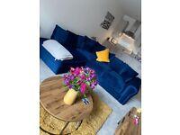 brand new plush velvet corner 4 seater sofa