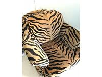 Tiger Pattern Arm Chair