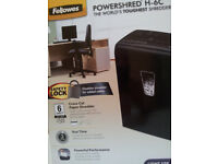 Paper Shredder Fellowes Powershred H-6C . One of the world's most powerful shredders & safety lock.