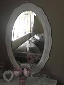 Large Wave edge Victorian Shabby Chic Mirror