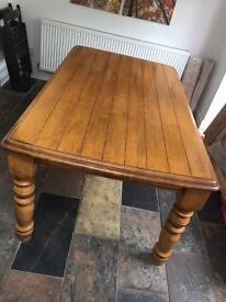 Leekes solid wood 6 seater Dining Table