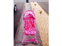 Pink mothercare pram
