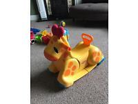 Baby toy rocking horse / giraffe