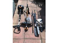 4 in 1 McCulloch Petrol hedge cutter, brush cutter, chainsaw and strimmer.