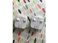 2 pairs of official iPhone headphones (new sealed)