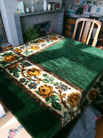 Pair of table covers or throws.