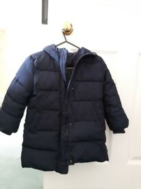 Gap girls Primaloft winter puffy jacket navy
