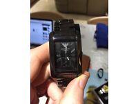 Mens EA Emporio Armani Ceremica Watch & Box