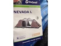 outwell Nevada L tent Only used once in the garden this is reason for sale as not being used