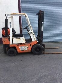 NISSAN GAS 1 1/2 TON FORKLIFT FOR SALE