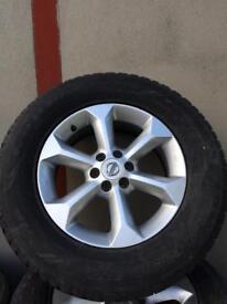 Nissan Navara alloys and tyres. 4x4