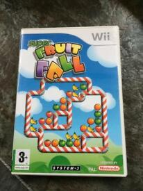 Wii super fruit fall game