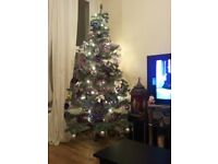 6ft christmas tree with stand - Used Outdoor Christmas Decorations For Sale