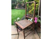 1920's Vintage chair Oak & rattan