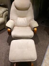 Recliner Chair and Foot Stool - Offers Considered