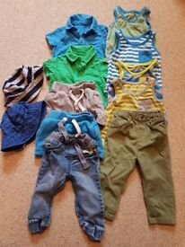 9-12 MTH OLD BABY CLOTHES BUNDLE