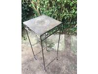 Ornamental metal table / plant pot stand