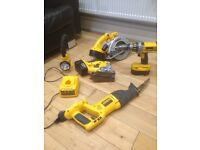 Dewalt xrt 5 piece combo kit .Drill/driver ,torch,jigsaw,circular saw ,reciprocating saw,3 batterys