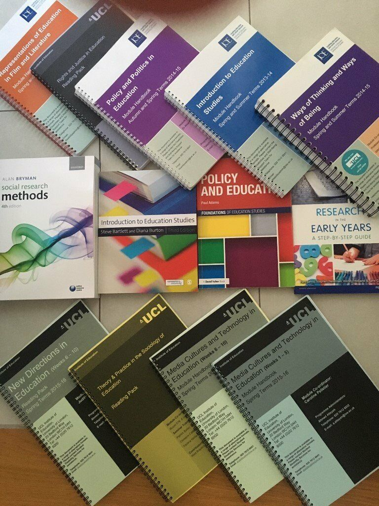 Education Studies Booksin Westminster, LondonGumtree - Education Studies books All books are an absolute must for education studies students. I graduated with a 1st from UCL Institute of Education due to these books!! Can be sold as a bundle or individually All 4 books (policy in education, social...