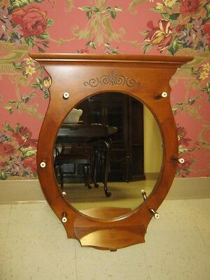 Tell City Hard Rock Andover Maple Oval Hallway Mirror Holds Hat Collection 3209 - Maple Oval Mirror