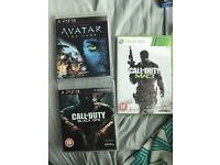 PS3 avatar, PS3 COD black ops and Xbox 360 COD MW3