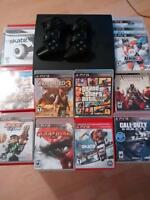 PlayStation 3 Slim Uncharted 3, God of war 3, Call of Duty Ghost
