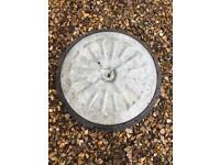 Galvanised & Black plastic 510mm round manhole lid and frame