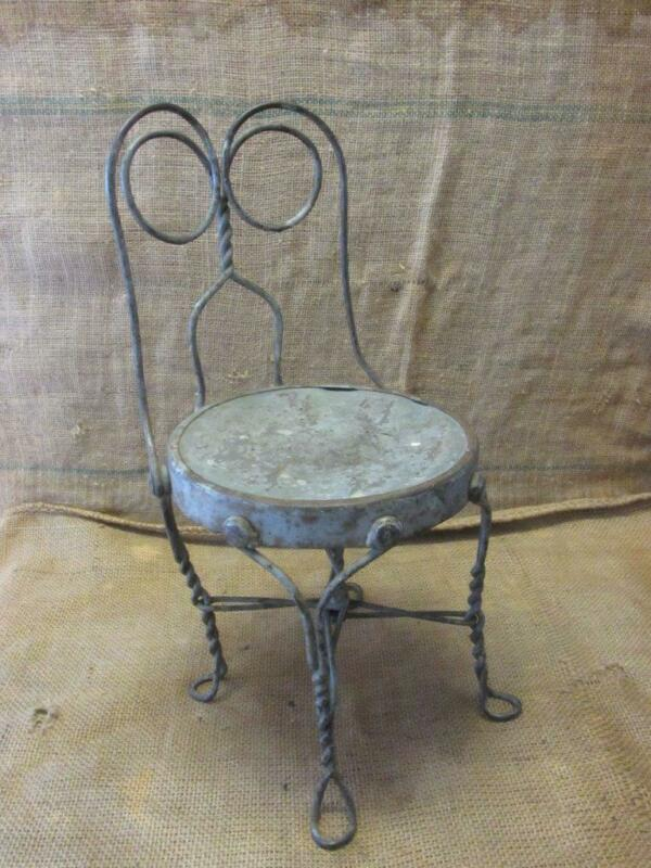 Vintage Childs Ice Cream Chair > Antique Old Stool Parlor Soda Fountain 9989