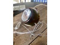 Glass ball spot light - retro style