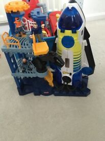 Imaginext space shuttle/tower