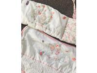 Mothercare little garden crib bedding