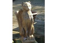 A pair of large solid stone vintage griffins absolutely gorgeous